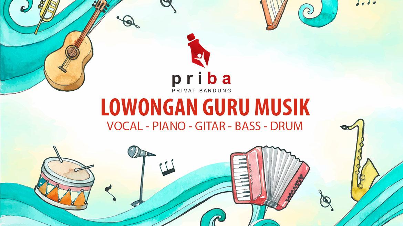 Lowongan Guru Musik Anak (Vocal, Piano, Gitar, Bass, Drum)